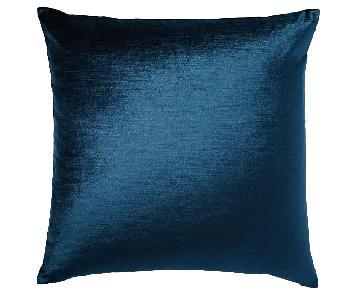 West Elm Lush Velvet Pillows in Regal Blue
