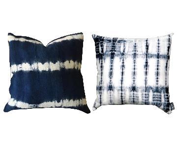 Mud Cloth & Shibori Blue Throw Pillows