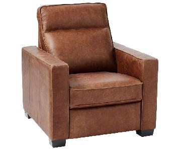 West Elm Henry Leather Power Recliner Chair