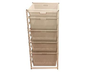 Elfa 5 Drawer Mesh Storage Units