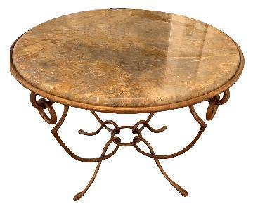 Safavieh Stone & Metal Side Table