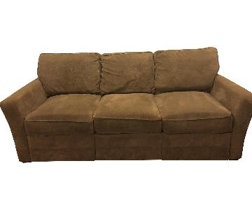 Khaki Natural Fiber Sofa w/ Storage