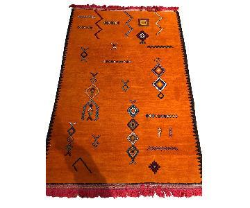 Galerie Talsint Orange Moroccan Rug