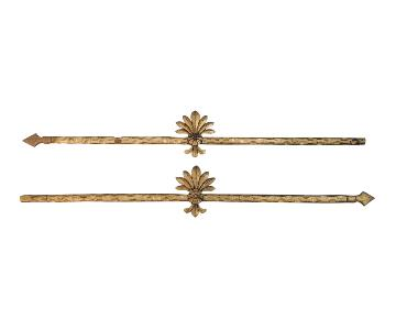 Gold Leaf Gilded Curtain Rods