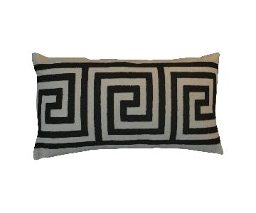 Greek Key Contemporary Embroiderd Pillow