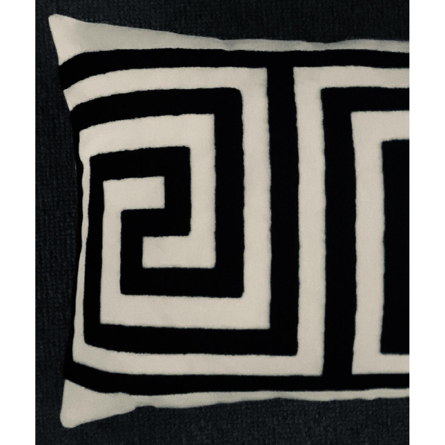 Greek Key Contemporary Embroiderd Pillow-0