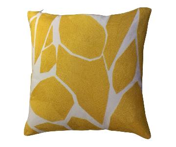 Abstract Art Wool Embroidered Pillow