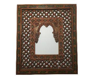 Indian Hand Carved Latticework Window