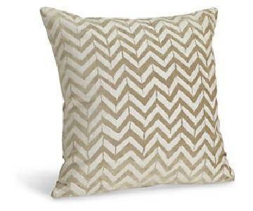 Room & Board Herringbone + Shimmer Throw Pillows
