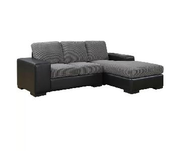 Mercury Row Ankney Sectional Sofa in Charcoal Grey Black
