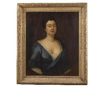 19th Century Oil on Canvas French Woman Portrait Painting