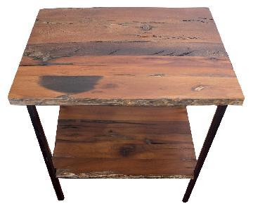 Arhaus Furniture Reclaimed Wood Side Table
