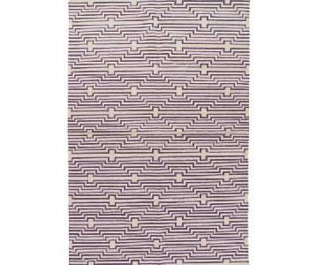 Aelfie Optik Flat-Weave Rug in Grape