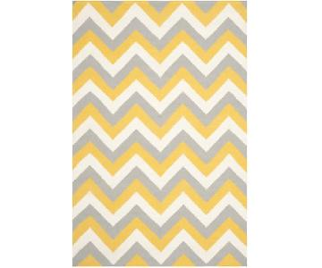 Safavieh Dhurries Hand-Woven Cotton Chevron Area Rug