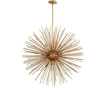 Shades of Light Galaxy Star Modern Gold Leaf Chandelier