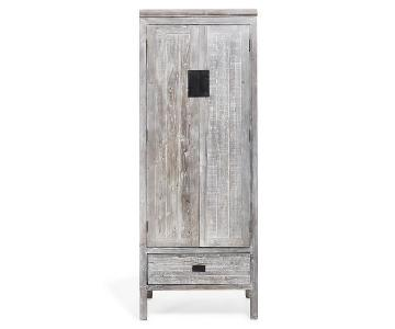 ABC Carpet & Home Urbn 2.0 Rustic Gray Brushed Oak Armoire