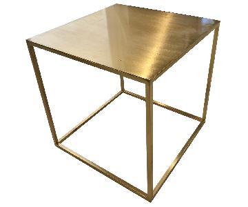 Eden & Eden Brass Cube Table