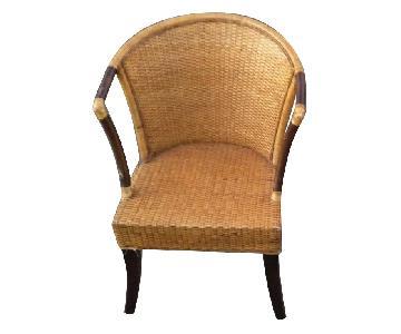 Pier 1 Weaved Barrel Indonesian Wicker Chairs