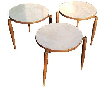 Vintage Mid Century Modern Small Round Tables