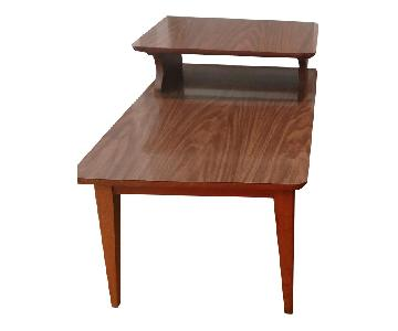 Lane Mid-Century Step Side Tables