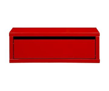 CB2 Slice Red Wall Mounted Storage Shelf