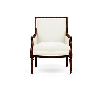 Ethan Allen Giselle Chairs in Cream