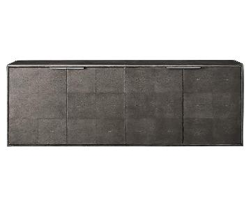 Restoration Hardware Smythson Shagreen 4 Door Sideboard