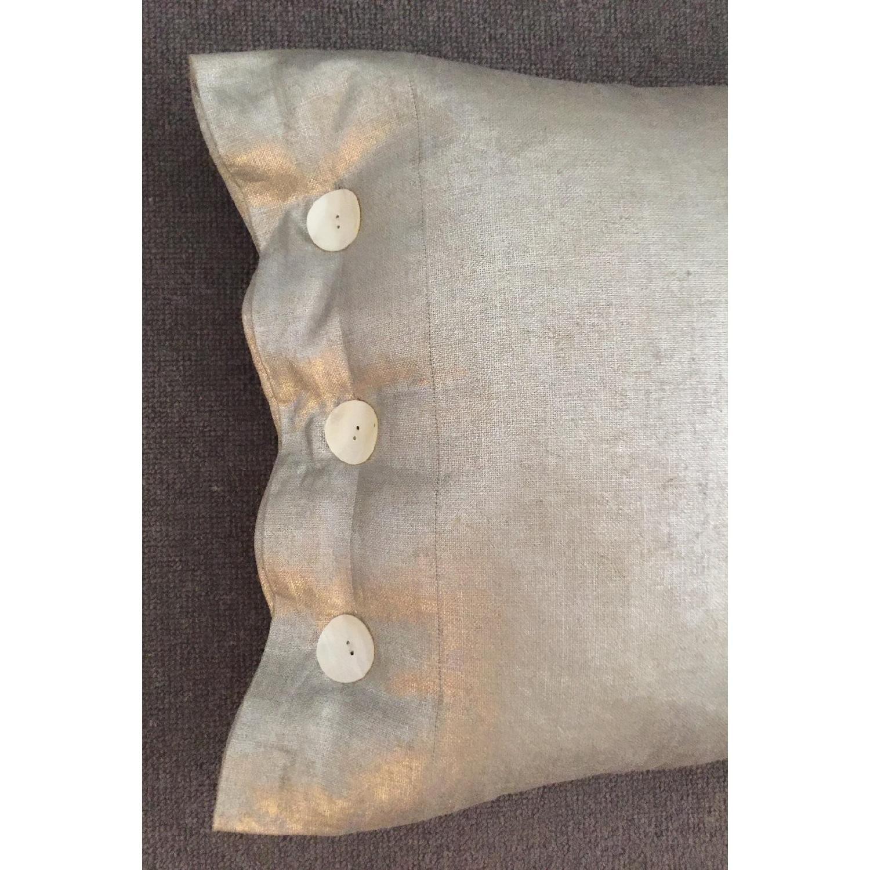 Modern Luxe Metallic Linen Pillow - image-2