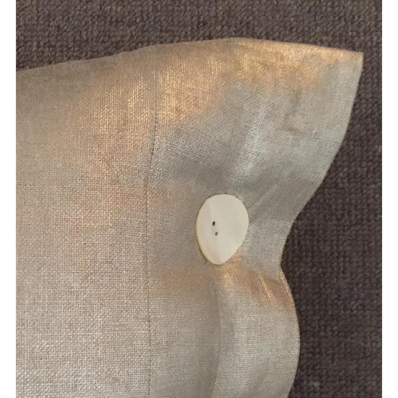Modern Luxe Metallic Linen Pillow - image-3