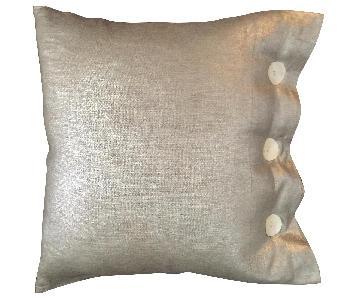 Modern Luxe Metallic Linen Pillow