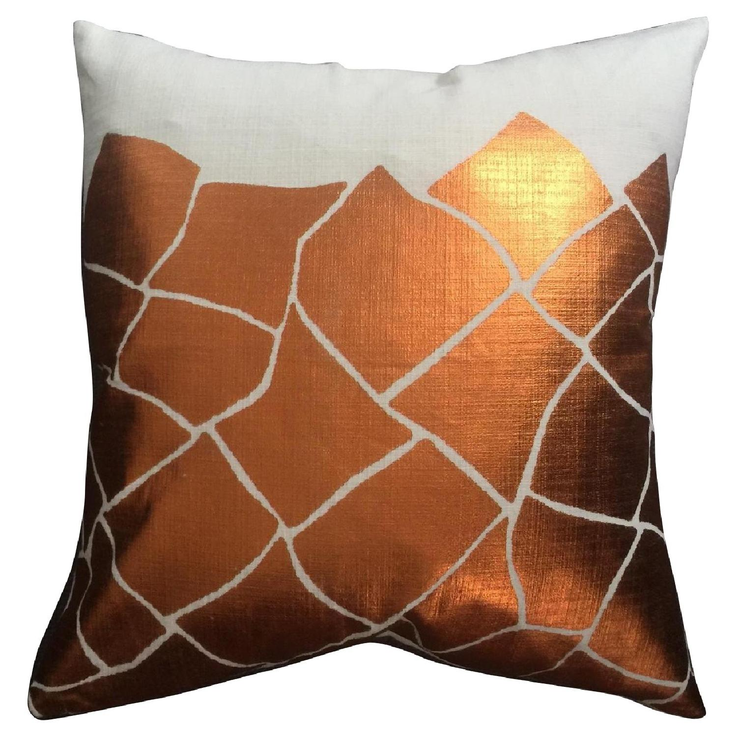 Cubist Metallic Printed Pillow