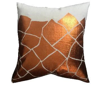Cubist Metallic Printed Pillow
