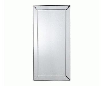 Large Rectangular Beveled Mirror