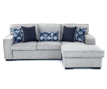 Bobs Sleeper Chaise Sectional Sofa w/ Storage