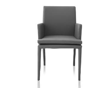 Modani Grey Leather Chairs
