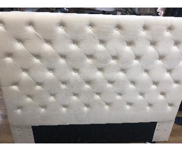 Macy's Full/Queen Velvet Tufted Headboard