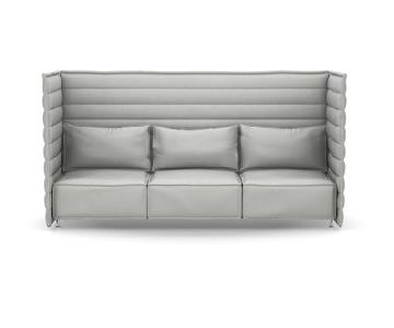 Vitra Alcove Plume Contract Highback 3 Seater Sofa