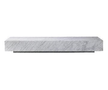 Restoration Hardware Marble Plinth Coffee Table
