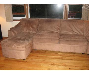 4 Piece Sectional Sofa w/ 2 Reclining Seats
