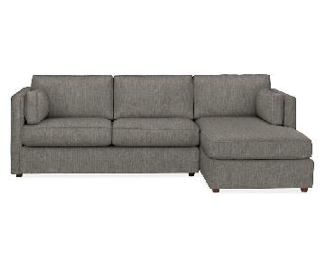 Room & Board Watson Sectional Sofa w/ Right-Arm Chaise