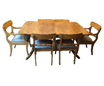 Vintage Mid Century Extendable Dining Table w/ 6 Chairs