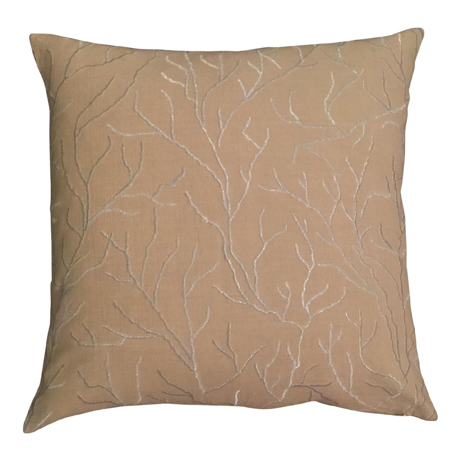 Linear Branch Embroidered Pillow - image-0