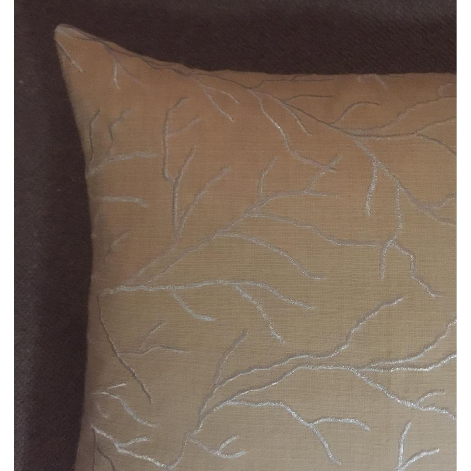 Linear Branch Embroidered Pillow - image-1