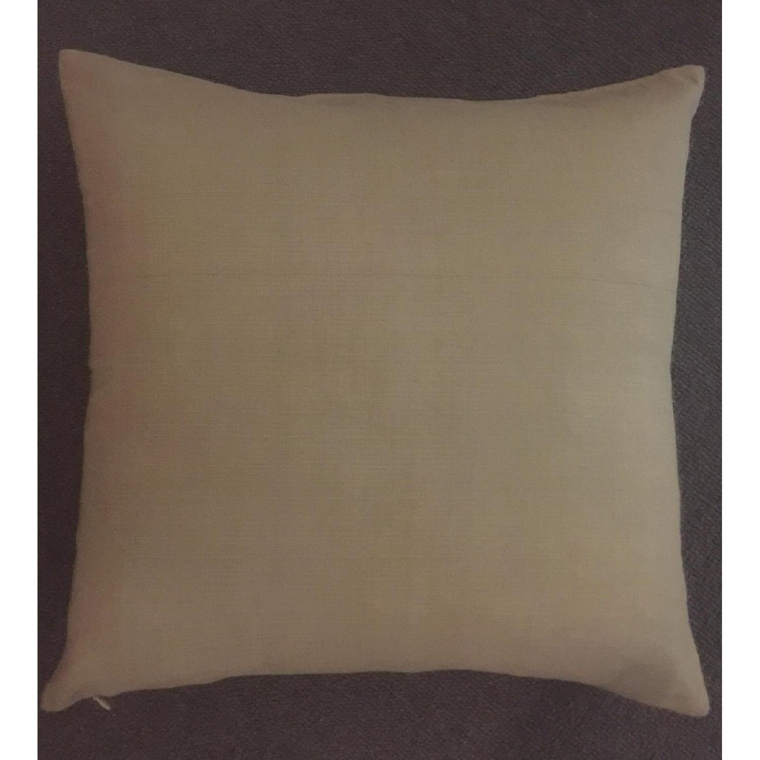Linear Branch Embroidered Pillow