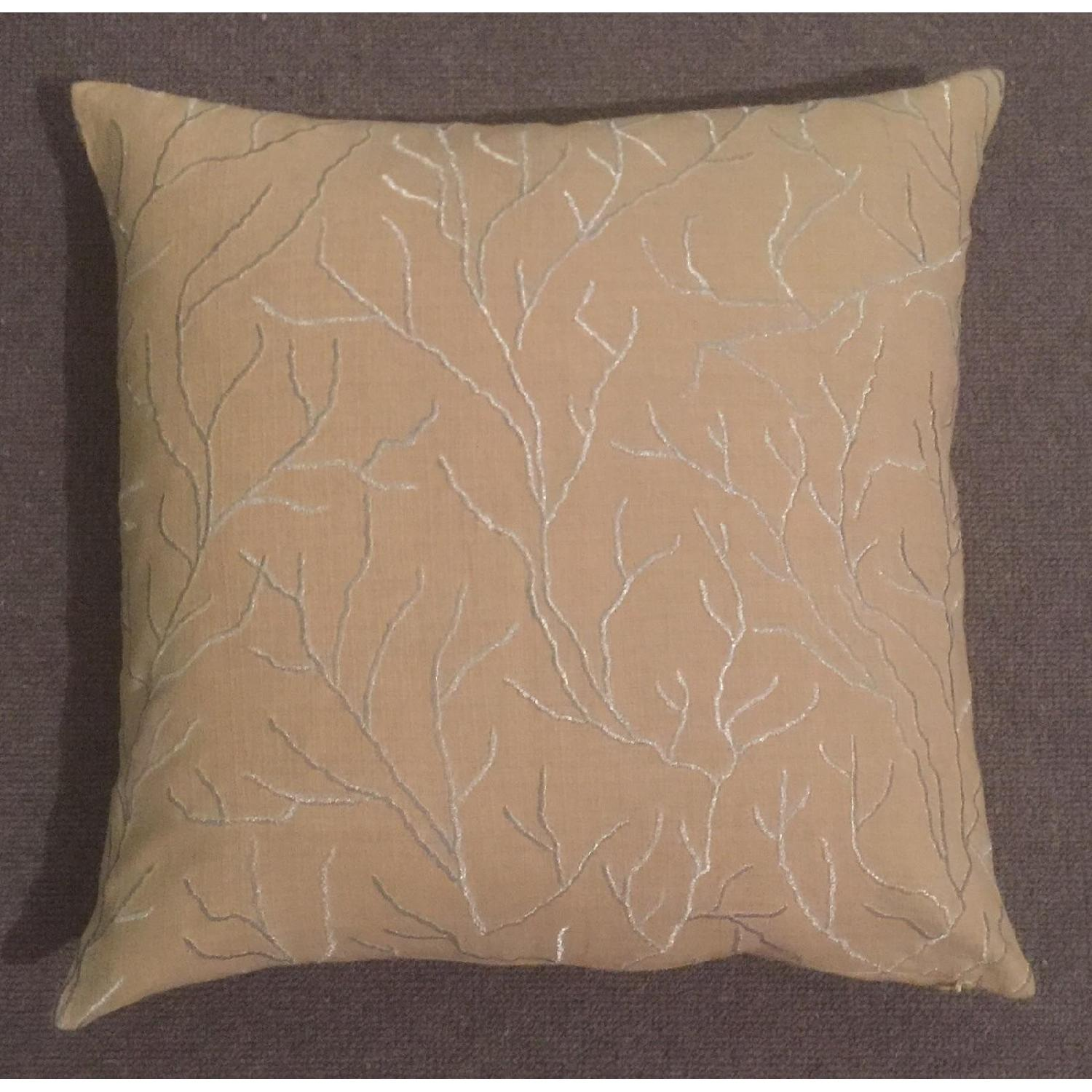 Linear Branch Embroidered Pillow - image-3