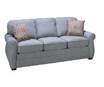 Suburban Furniture Flexsteel Whitney Light Blue Sofa