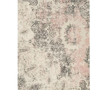 West Elm Distressed Ornament Wool Rug (5x8)