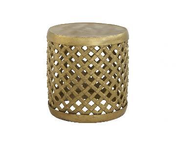 Jayson Home Bamileke Brass Side Tables