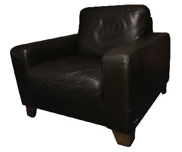 Natuzzi Brown Leather Chair