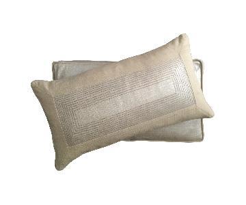 Contemporary Metallic Embroidered Pillows